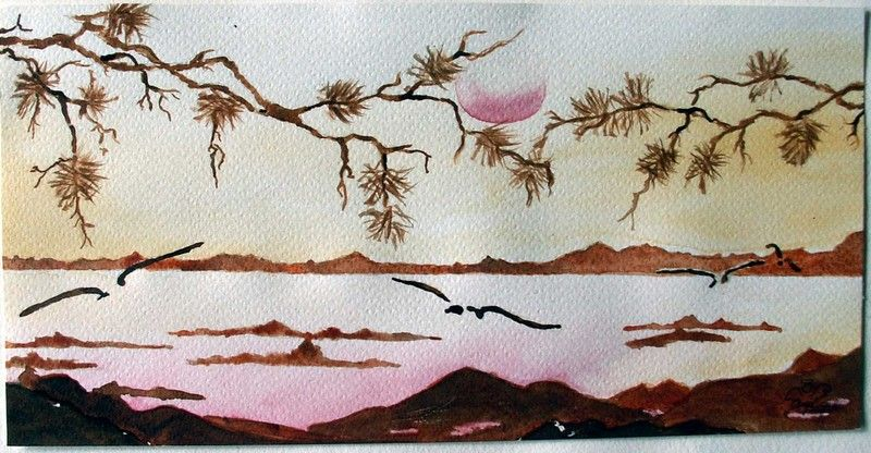 Paysage Japonais Paysage Aquarelle Japon Paysage Photos Paysage