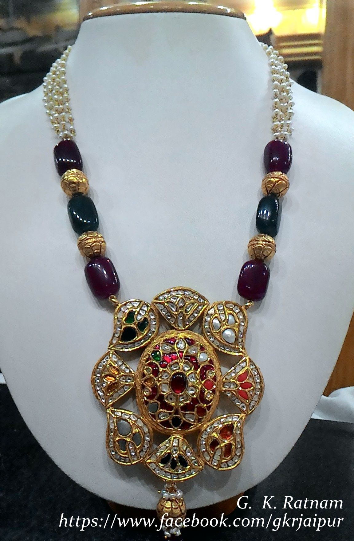 Kundanmeena pendant set my dream ornaments pinterest pendant