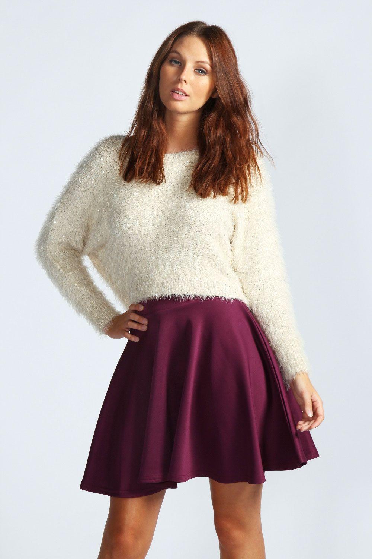 674952263 Basic Scuba Skater Skirt | My Style | Skater skirt, Skirts, Winter ...