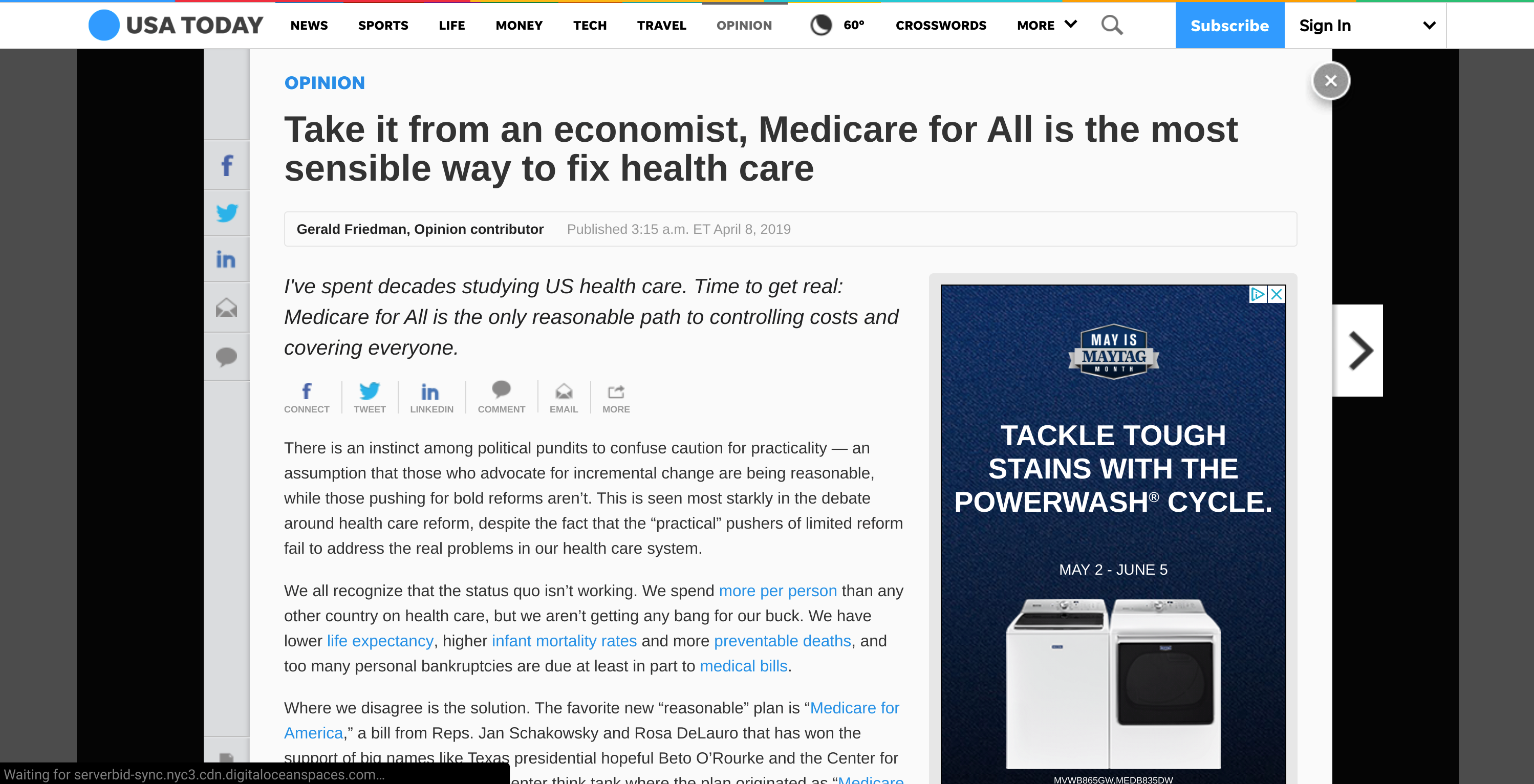 Take It From An Economist Medicare For All Is The Most Sensible