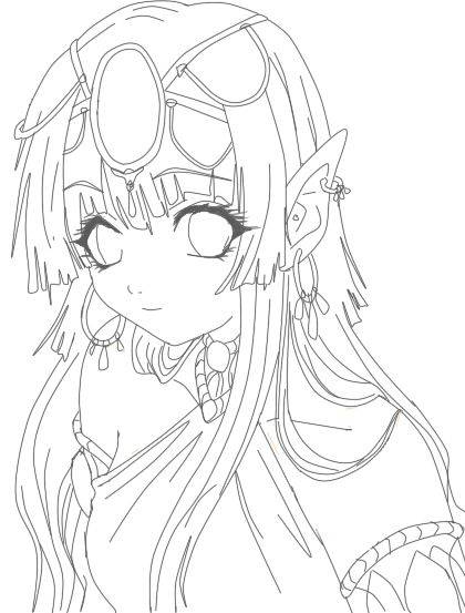 More Like Elfi Lineart By Anez Erynlis Coloring Pages Art Elves
