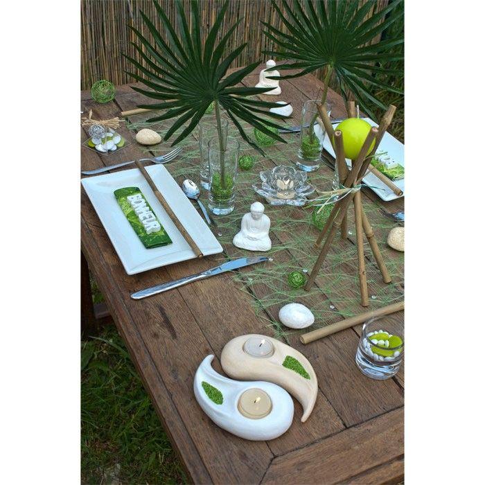 une table de repas inspir e de la d coration indienne zen d co anniv 39 pinterest. Black Bedroom Furniture Sets. Home Design Ideas