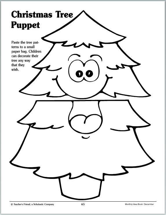 Christmas Tree Puppet | Navidad, Marioneta y Preescolar