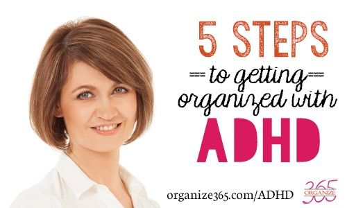 In the final installment of this 5-part series about how ADHD affects getting organized, I share 5 tips to help you organize your space! #adhd
