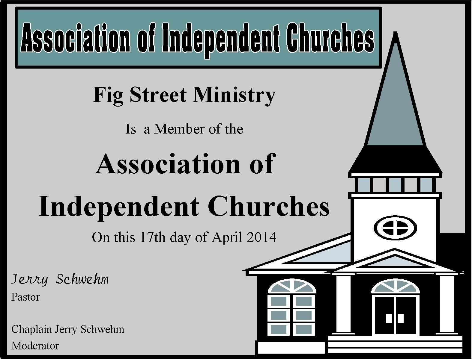 Membership In Association Of Independent Churches Fig Street Ministry Renew Wedding VowsWedding OfficiantWedding CeremoniesFigsNew OrleansMinistry
