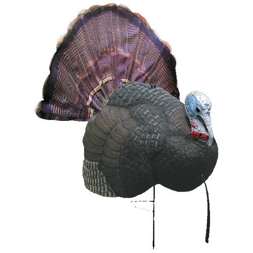primos b mobile strutting gobbler turkey decoy includes strutting gobbler decoy fold up silk fan b mobile fan holder decoy stake carrying bag