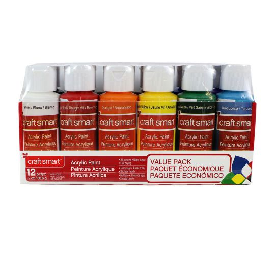 Acrylic Paint Value Pack By Craft Smart Acrylic Paint Set