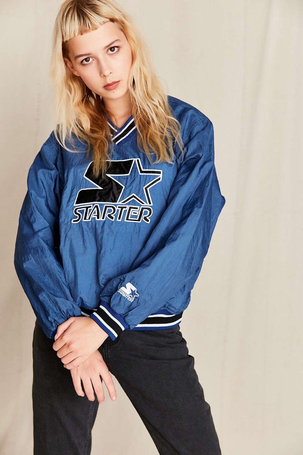 Vintage Starter Blue Bomber Jacket