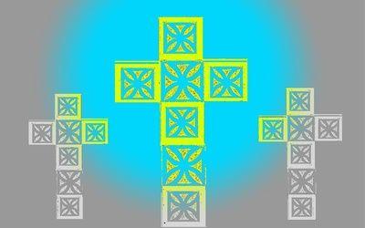 Crosses Stretched Canvas #cross #religion #Jesus