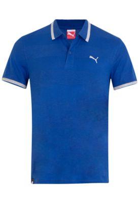 Camisa Polo #Puma Bordado Azul - Compre Agora | #DafitiSports R$119.90  #casual #moda #estilo #like #cool #sports
