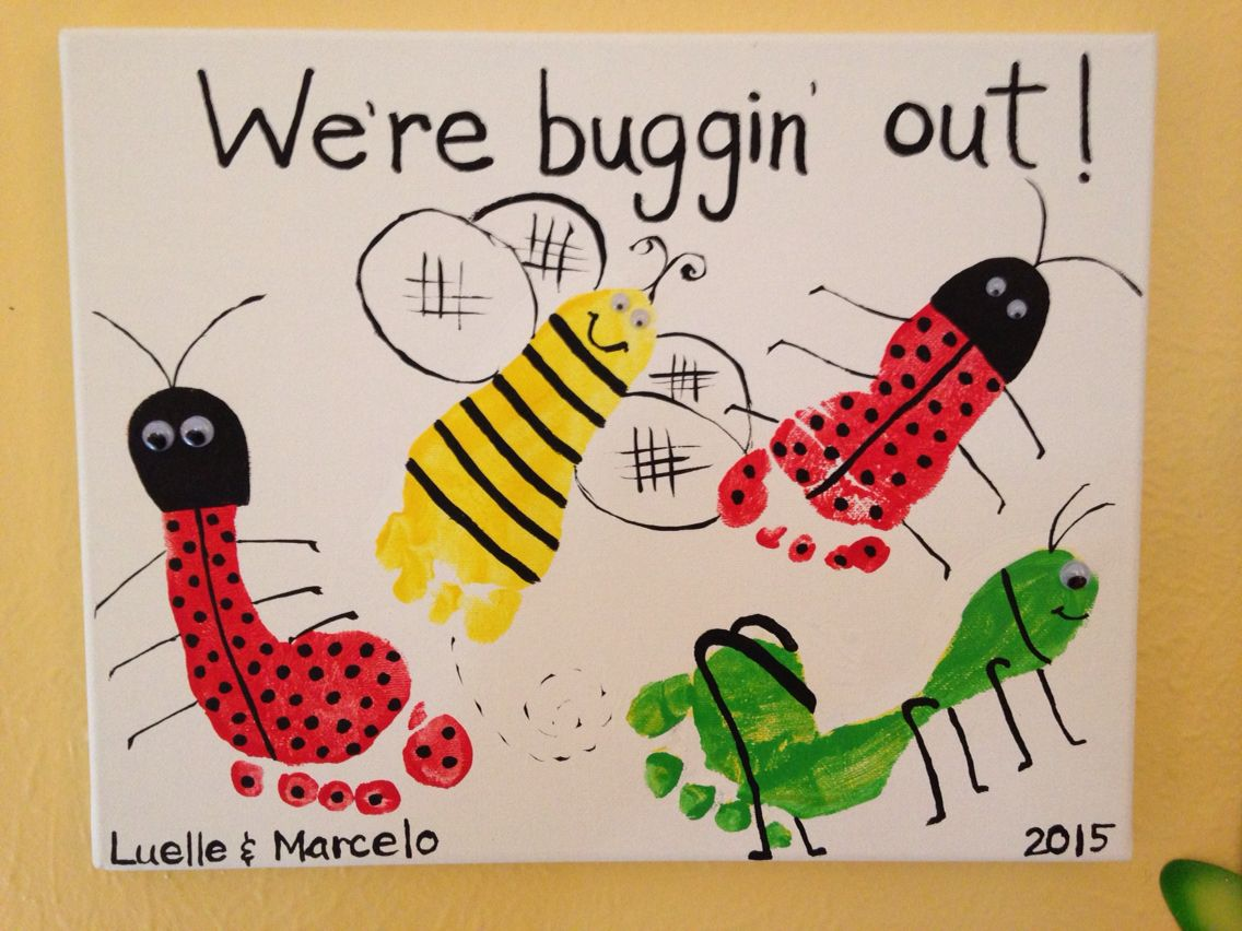 Buggin Out Footprint Art By Tala Campbell Infant CraftsInfant