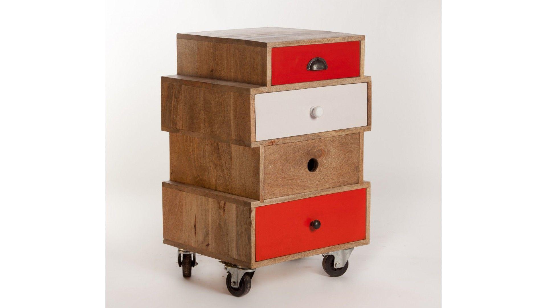 meuble d appoint design multi tiroirs