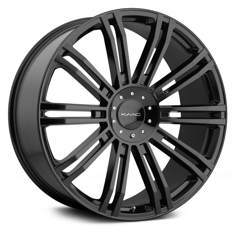 KMC® D2 Gloss Black Wheel rims, American racing wheels