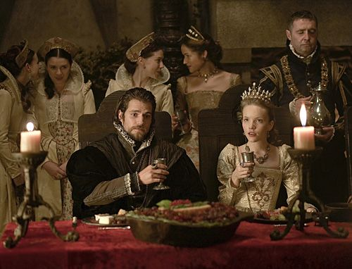 The Tudors - Season 4 - Episode 4 - Henry Cavill as Charles Brandon, Tamzin Merchant as Katherine Howard, and David O'Hara as Henry Howard, Earl of Surrey