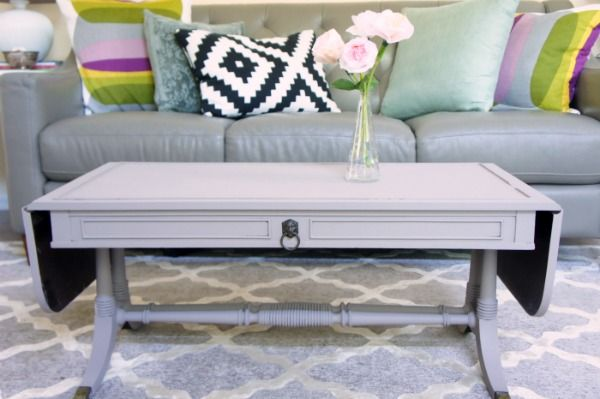 Try an easy Coffee Table Makeover with Poppies Repurposing Paint Powder. You will love the smooth application and the many finishing options.
