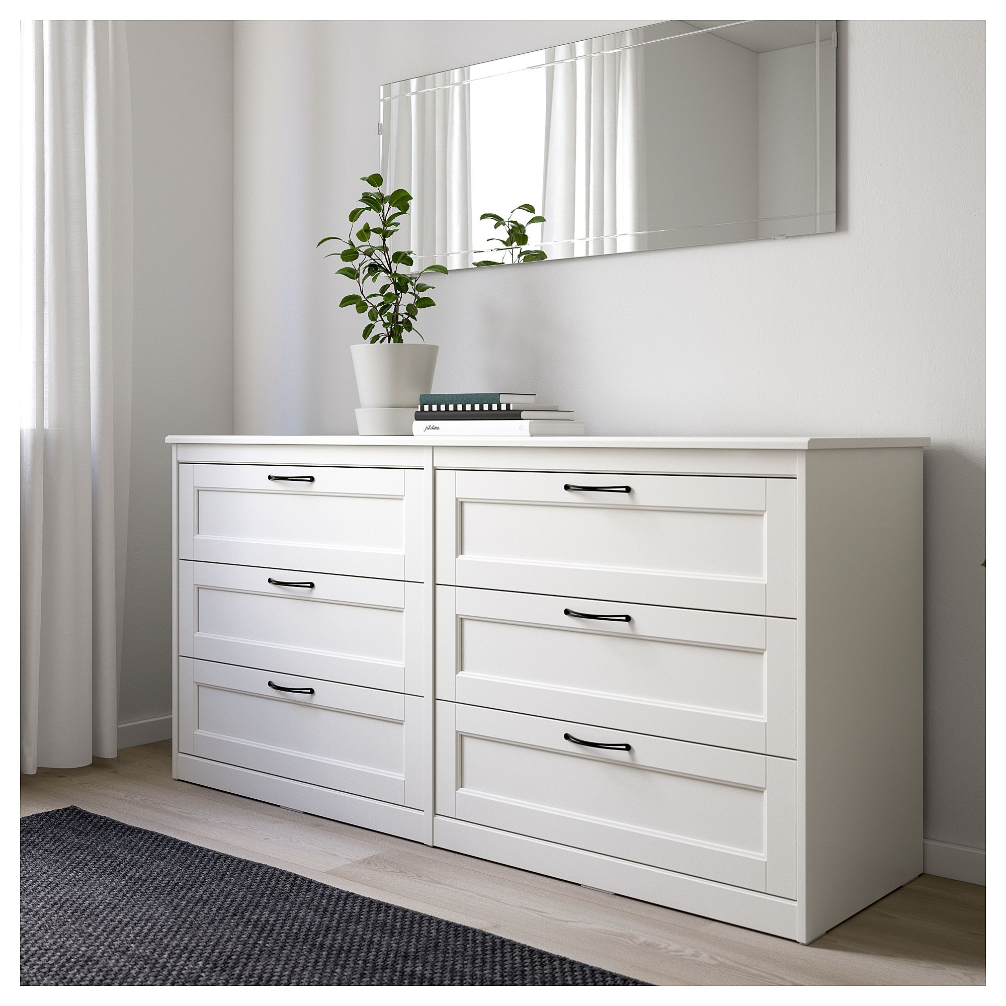 SONGESAND Chest of 6 drawers White IKEA | Mieszkanie ...