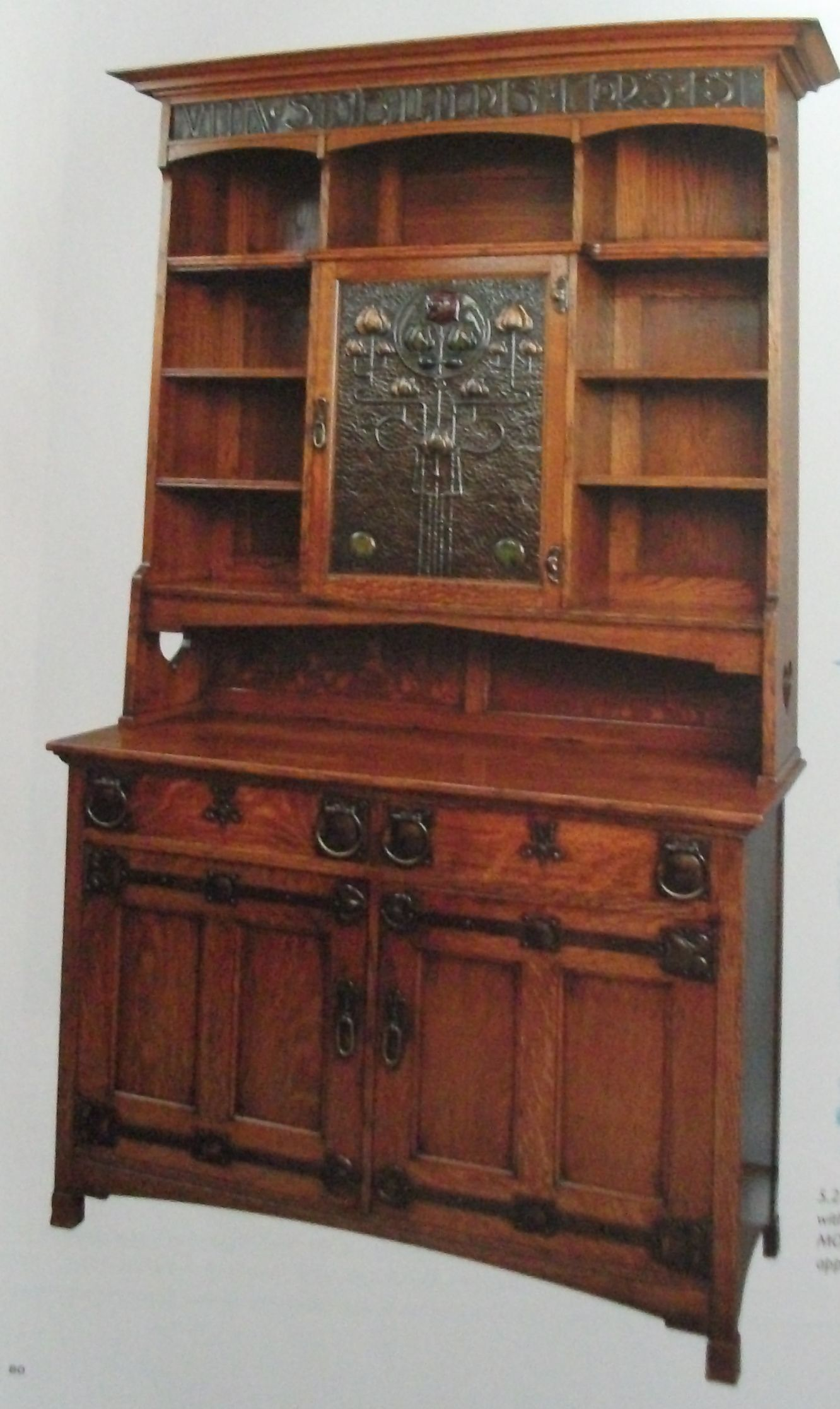 Bookcase With Motto Arts And Crafts Furniture Craftsman Style