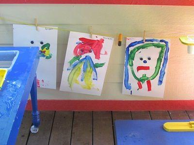 Drawing and painting with googly eyes Tekenen en schilderen met opplak ogen