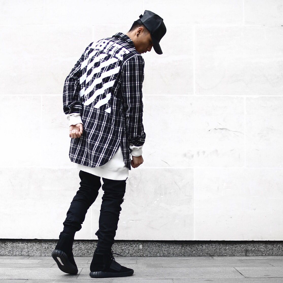 Flannel outfit ideas men  Off White  O F F W H I T E  Pinterest  Street Fashion and Menus