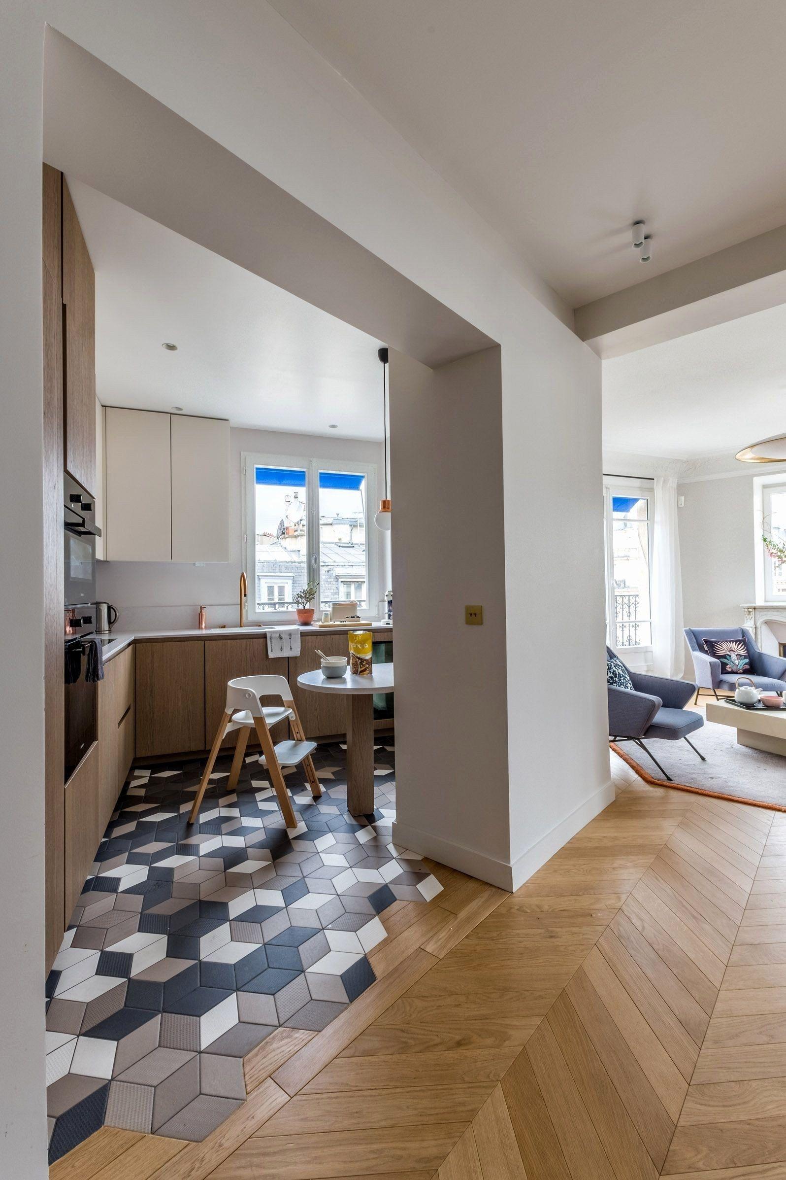 du parquet dans la cuisine 20 id es pour s 39 inspirer. Black Bedroom Furniture Sets. Home Design Ideas