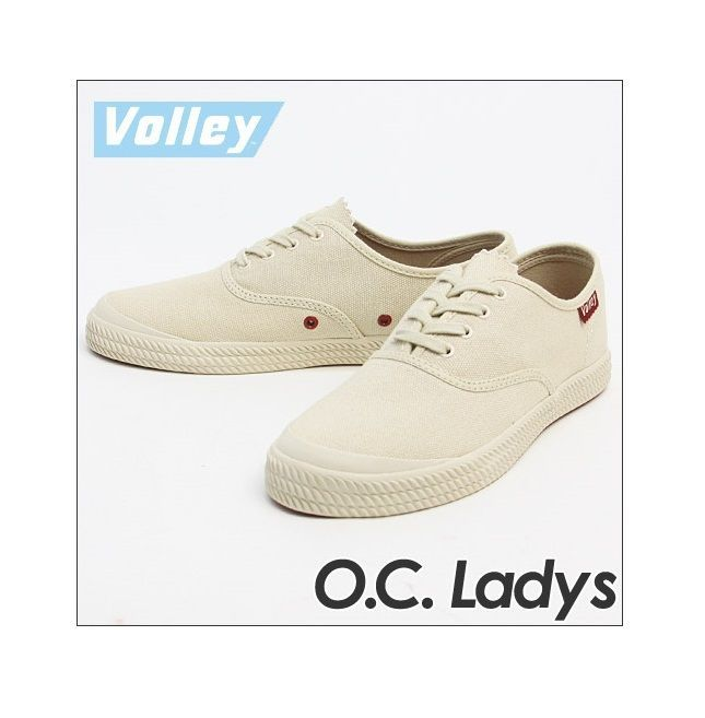 Volley Womens Volley O.C. Ivory Canvas Fashion Sneakers Shoes 5 Medium (B,M) $60 #Volley #Trainers