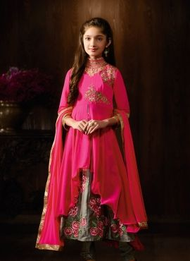 5150d5817b568 Beige Net Designer Salwar Suit For Small Girl in 2019   Fashion ...