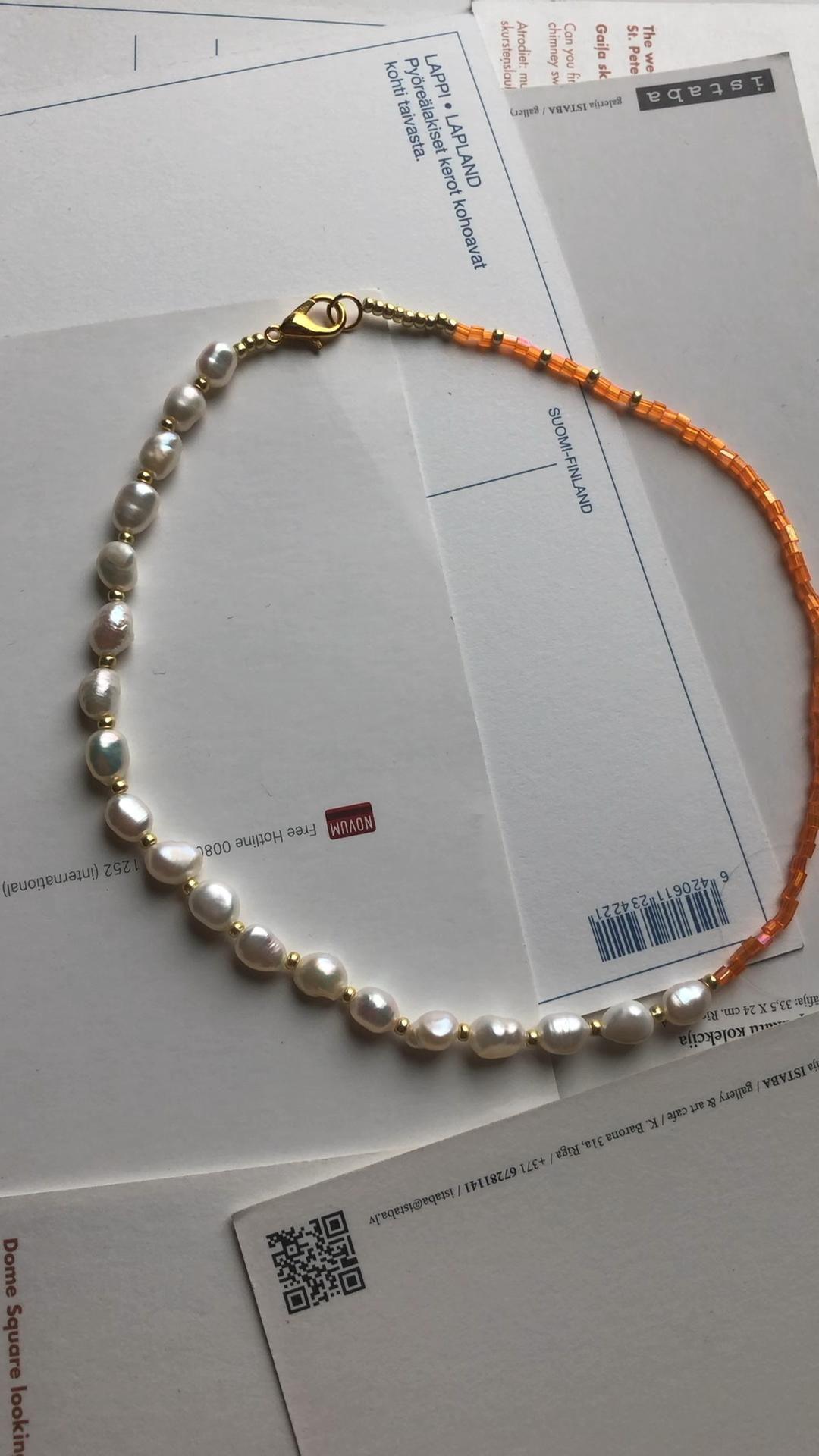Choker necklace jewelry, choker pearl, choker seed