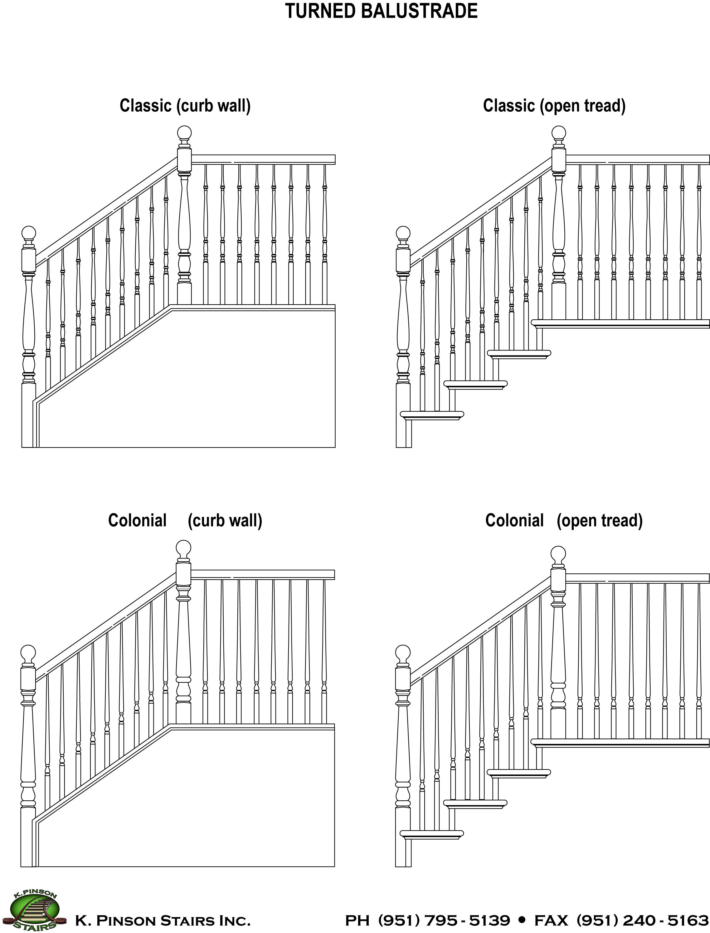 Basic Turned Post Styles