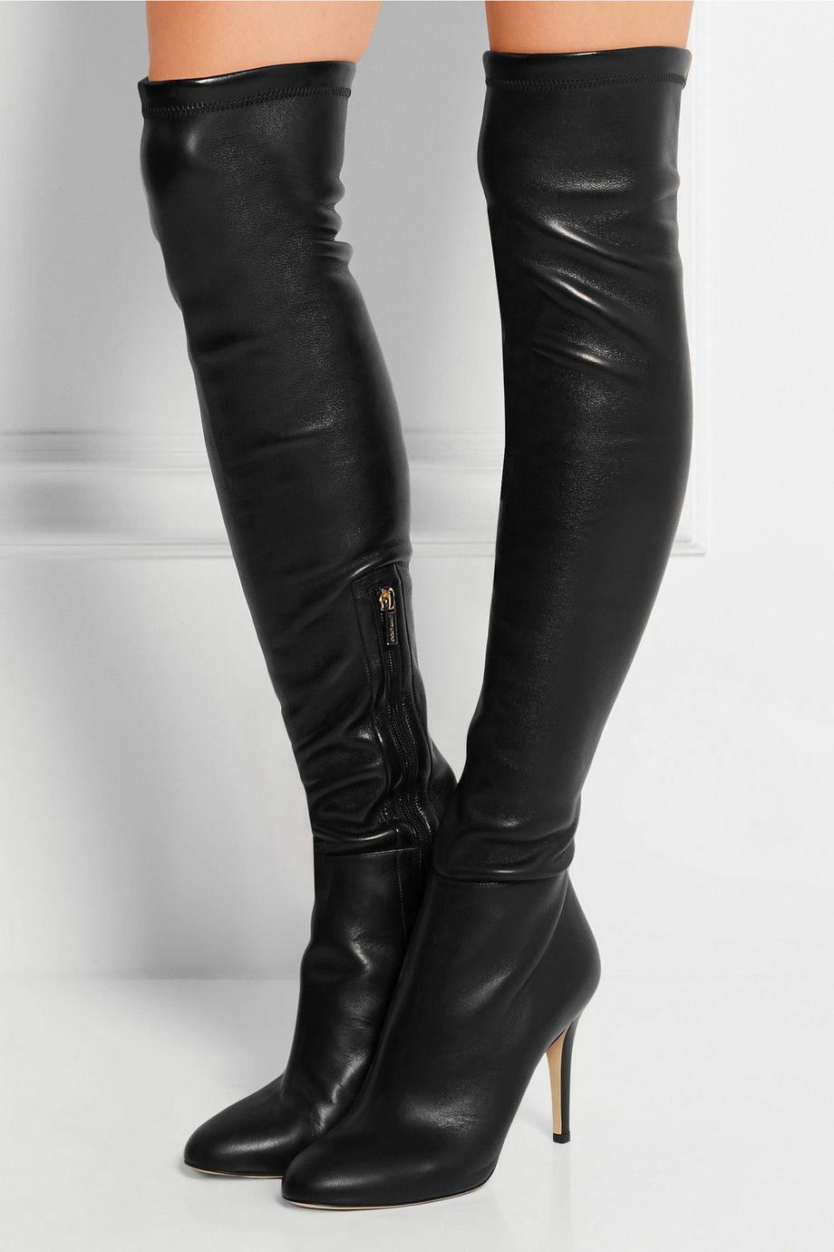 jimmy choo toni stretch leather over the knee boots net a porter rh pinterest com