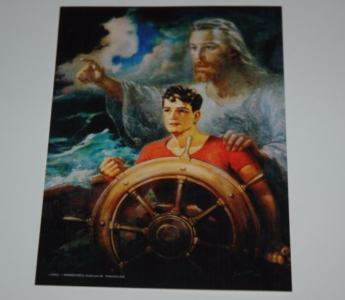 Details About Warner Sallman Christ Our Pilot 10x8 Art Print Jesus