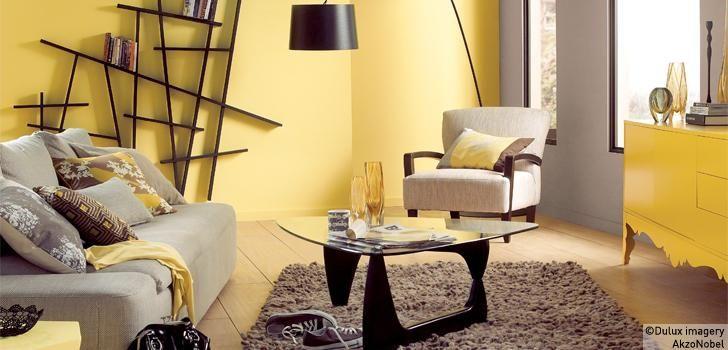 Too Much Yellow But Love The Bookshelf Habitacion Amarilla Y Gris Habitaciones Amarillas Colores De Interiores