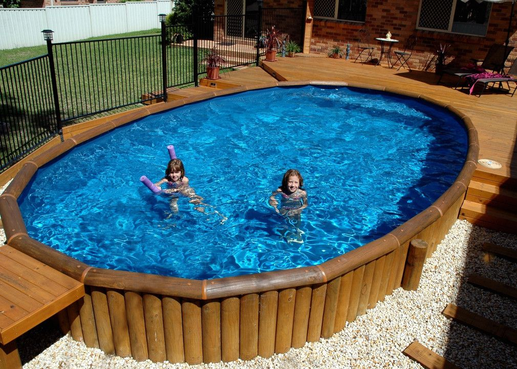 Schon Wood Decks Around Above Ground Pools