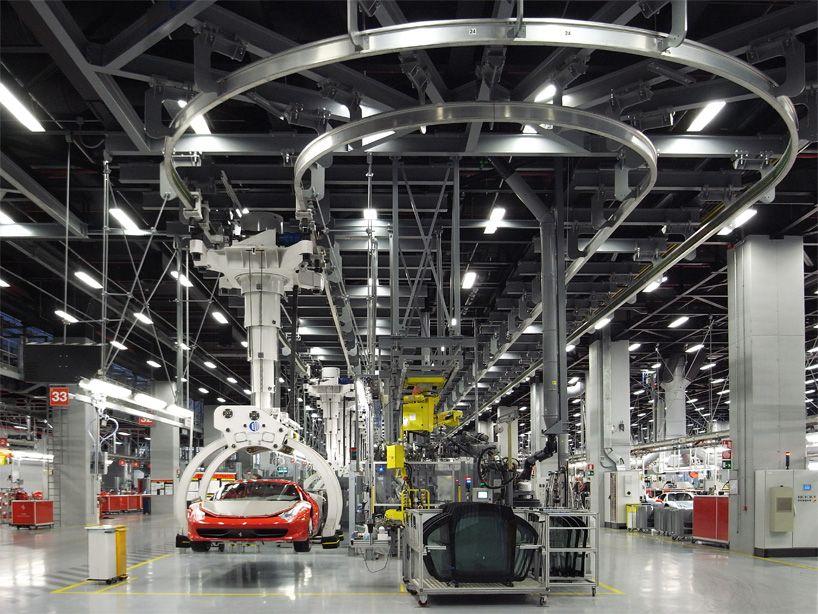 Ferrari Factory Tour Assembly Line Factory Architecture Factory Tours Ferrari