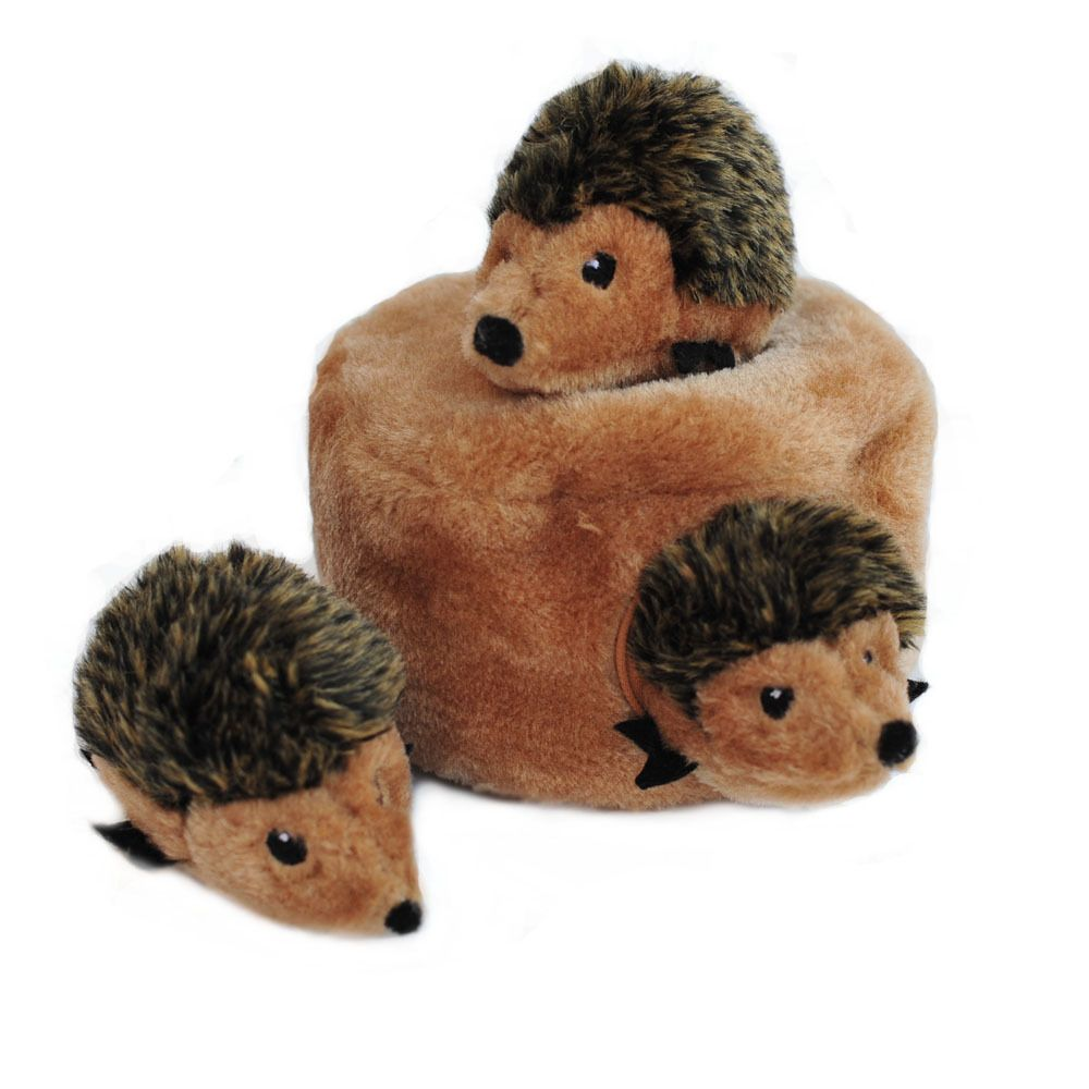 ZIPPY PAWS BURROW HEDGEHOG DEN WITH SQUEAKY TOYS