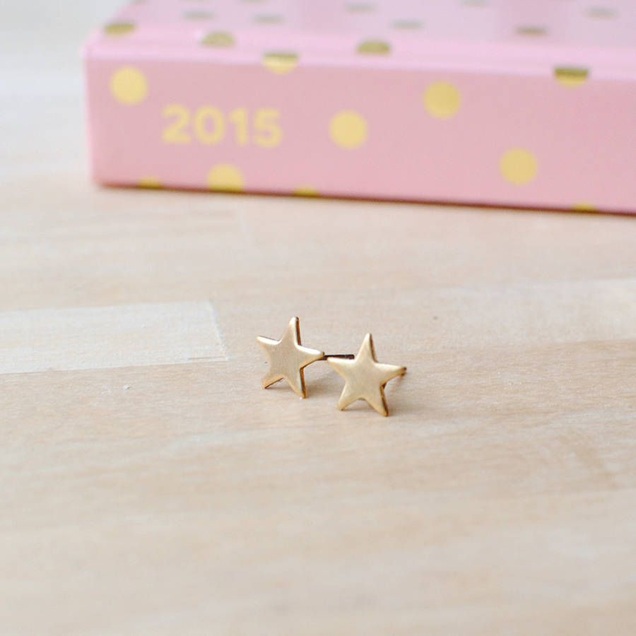 tiny nose stud gold pin tragus cartilage ring