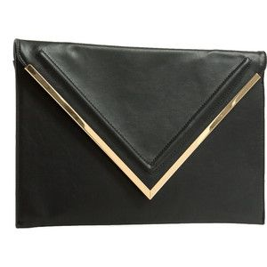 Let It V Faux Leather Clutch