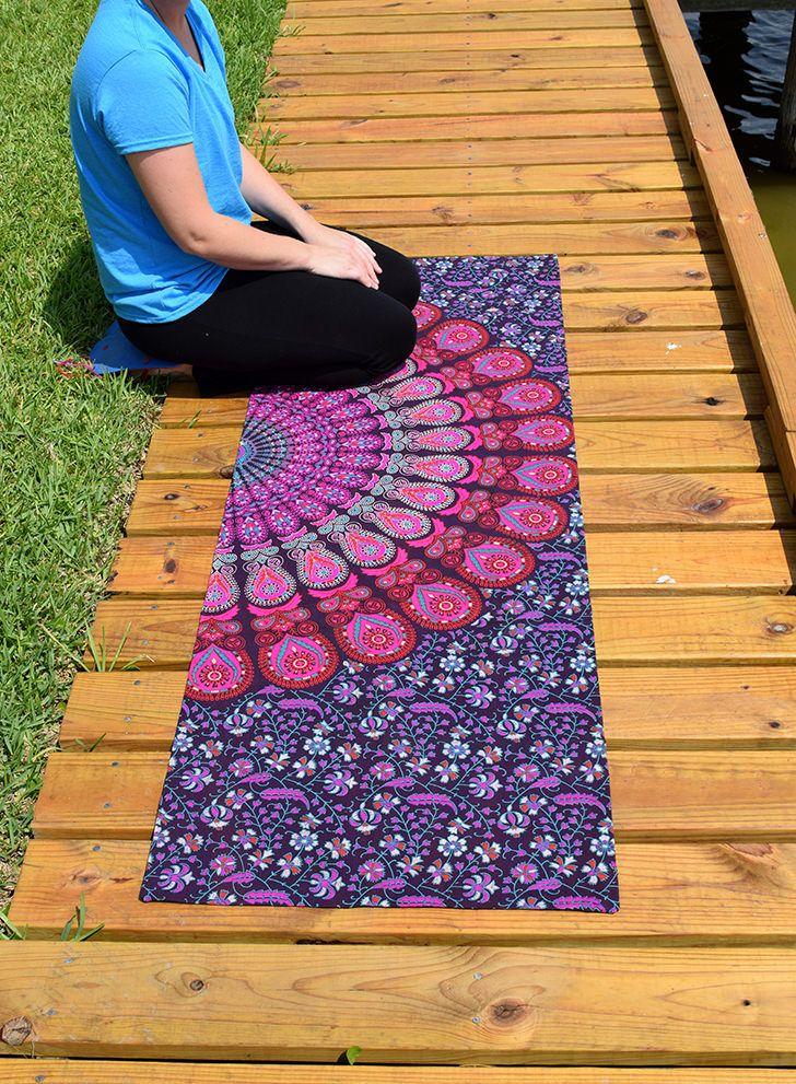 DIY Yoga Mat Bag | Yoga mat bag, Diy yoga, Yoga bag diy