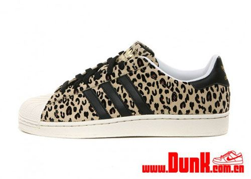 superstar adidas animal print