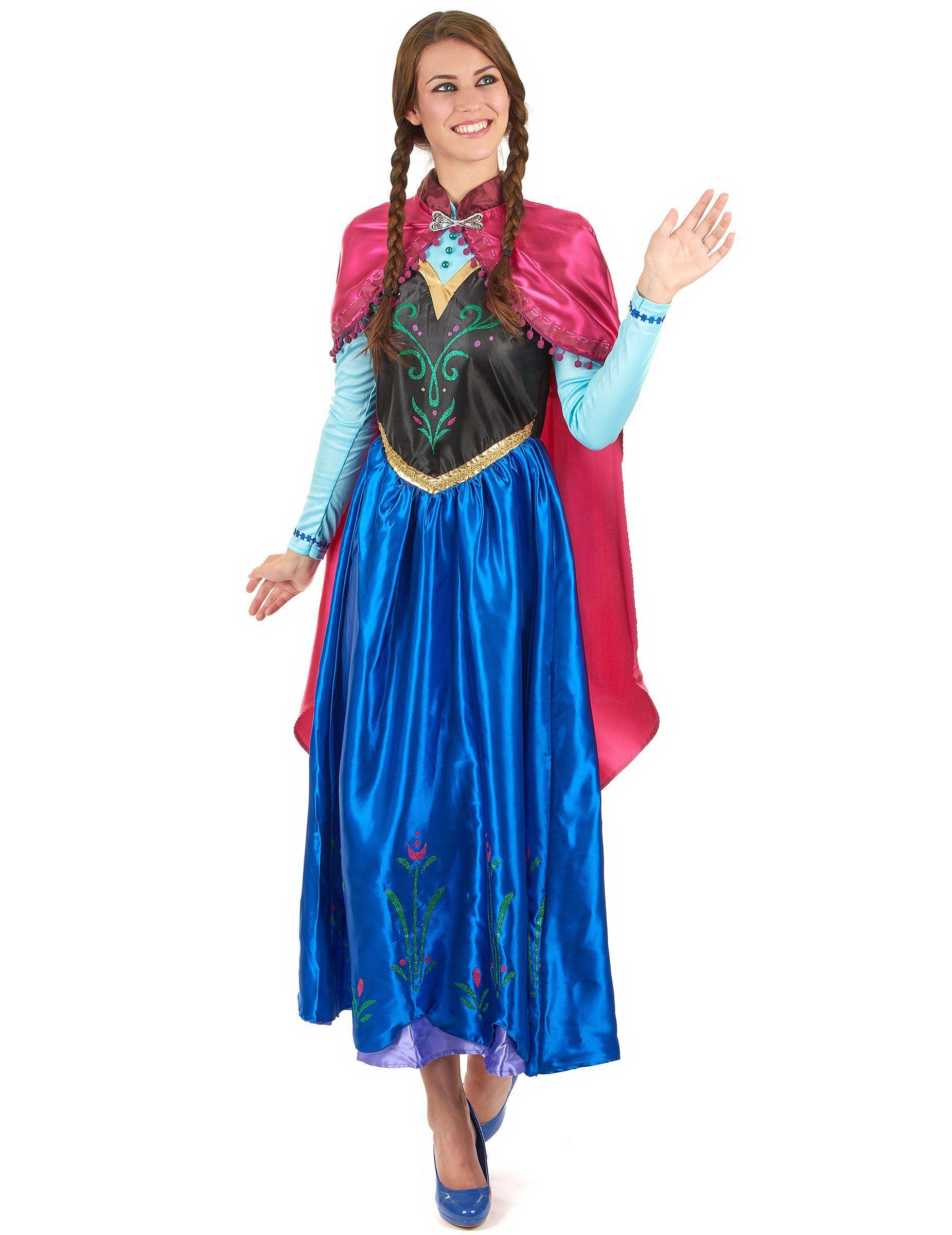 Disfraz Anna Frozen™ adulto  Este disfraz de Anna Frozen™ tiene licencia  oficial de Frozen™. Incluye vestido y capa (zapatos no incluidos). eb55d1677989
