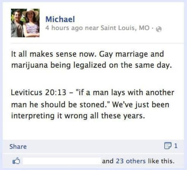 Wise Words About Gay Marriage And Marijuana Mary Jane Pinterest