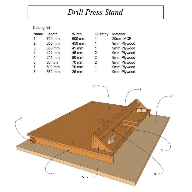 Drill Press Stand Plans   Drill press stand, Drill press ...