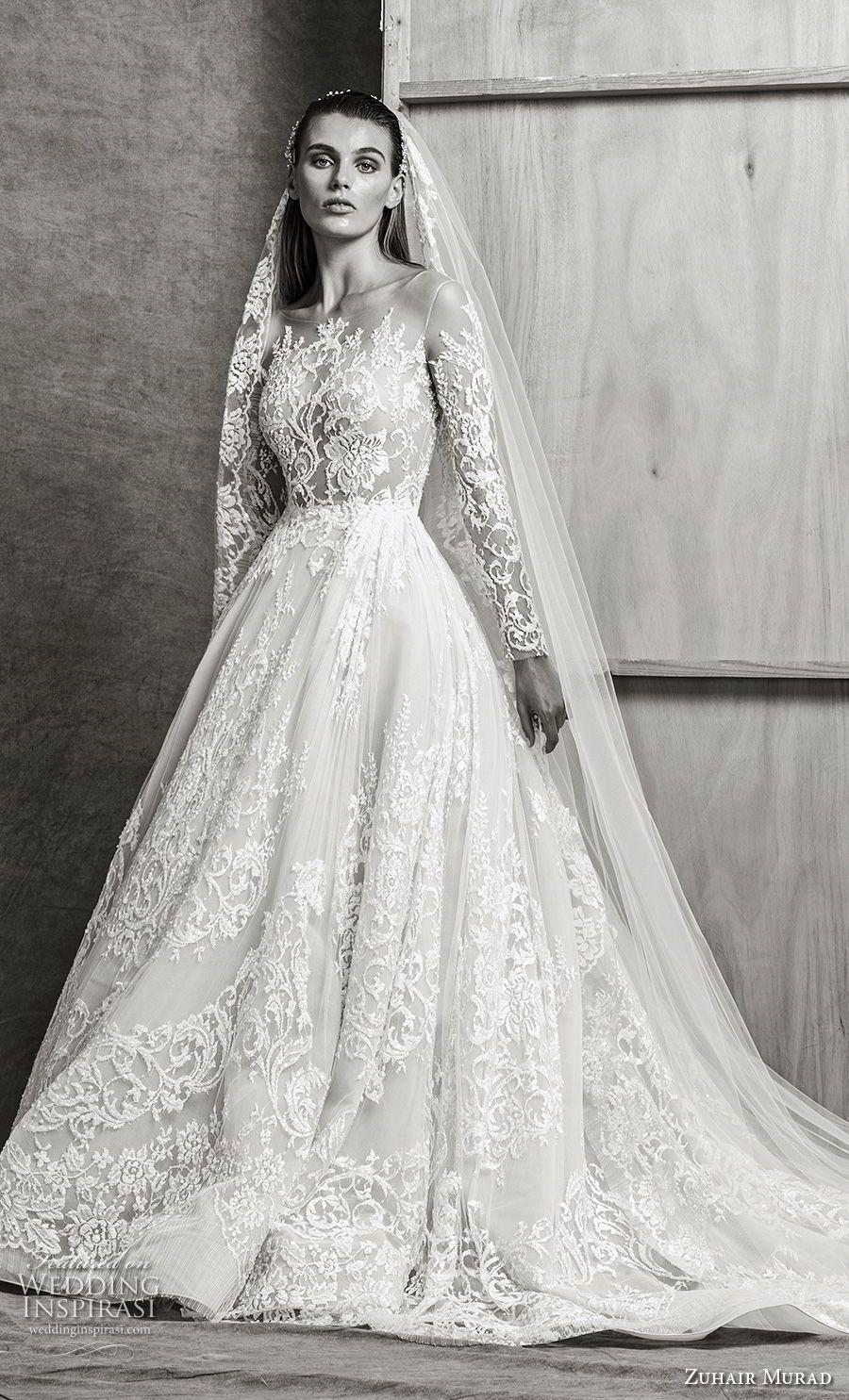 Zuhair Murad Fall 2018 Wedding Dresses Wedding Inspirasi Long Train Wedding Dress Wedding Dresses Zuhair Murad Elegant Wedding Dress