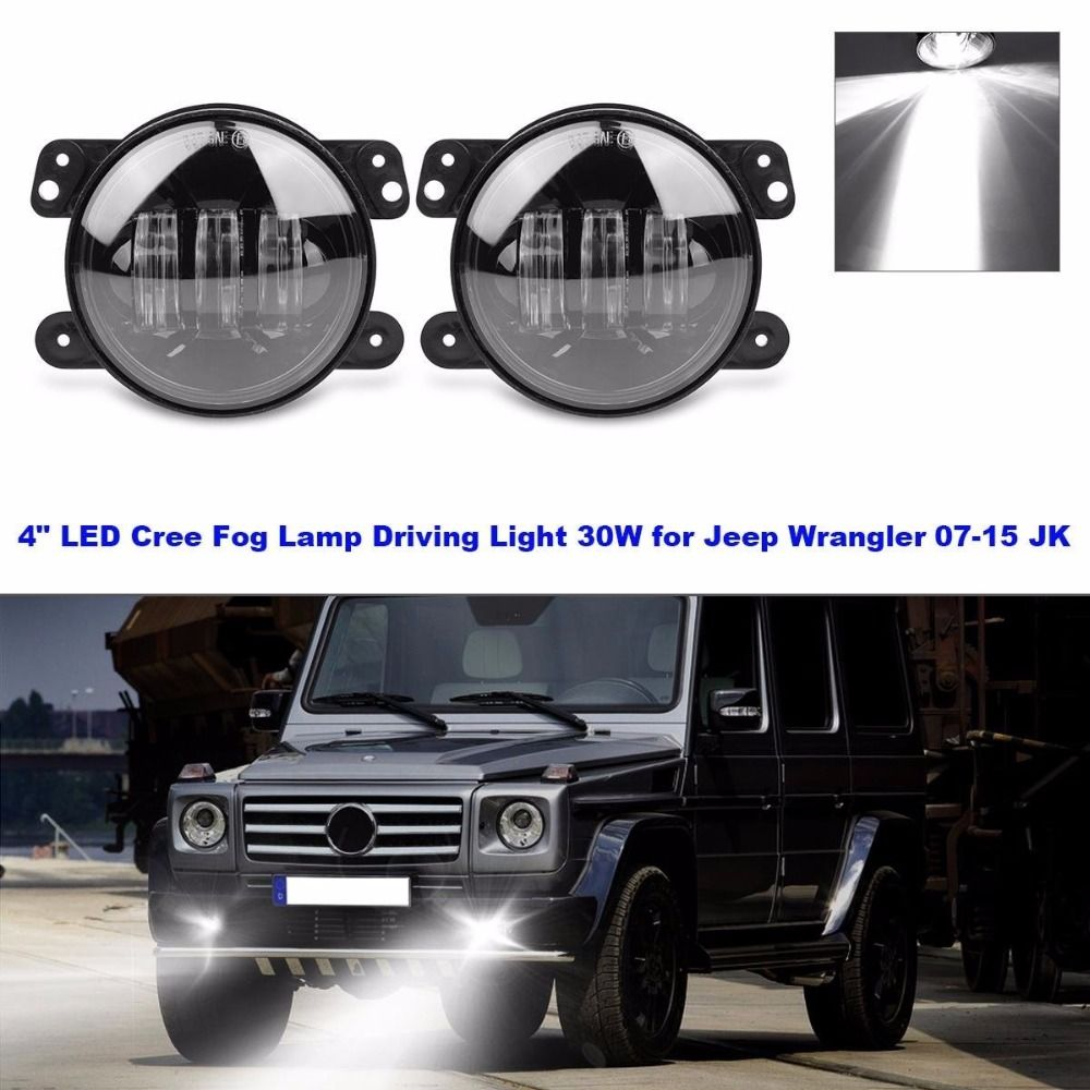 2 Pcs 4 Inch Led Fog Lights For Jeep Wrangler Jk Tj Us 3958 Lj Tractor Boat Lamps Bulb Auto Headlight Driving Offroad Lamp Yesterdays Price 4349