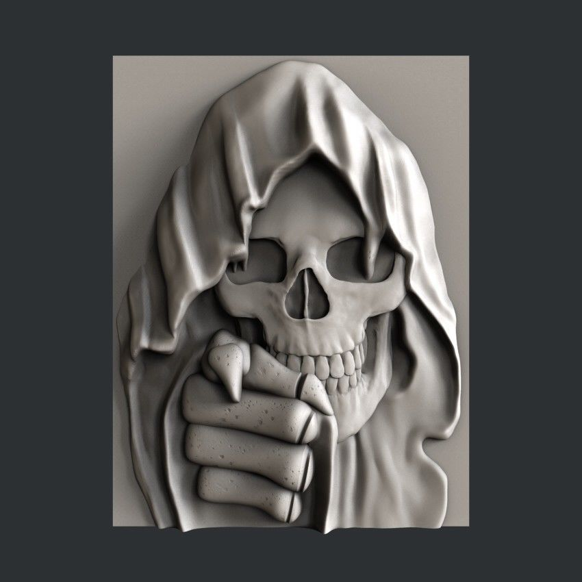 3d STL models for CNC, Artcam, Aspire, relief Skull | 3d ...