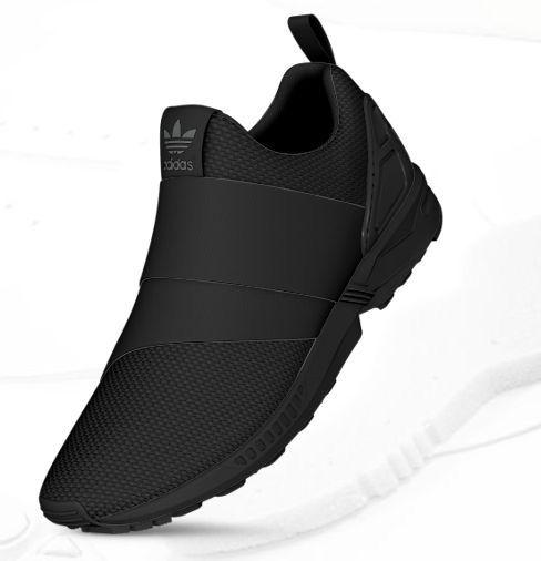 adidas laceless trainers black Shop