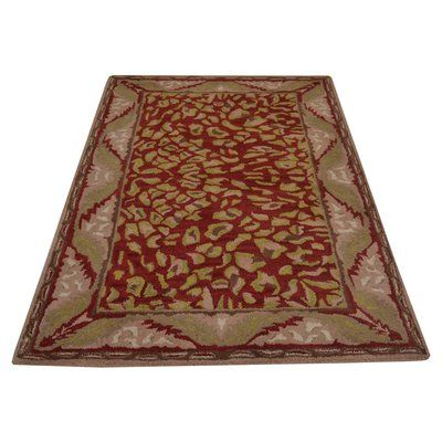Get My Rugs Vintage Hand-Tufted Red/Beige Area Rug