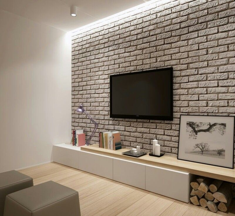 Brick Wall Living Room Design Small Spaces Brick Room Brick Interior