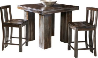 Wondrous Pub Table Made From Thick Wood Comes With Two Stools Would Machost Co Dining Chair Design Ideas Machostcouk