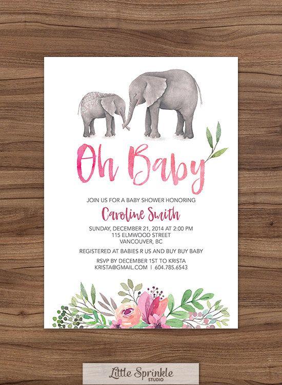 Fresh Elephant Baby Shower Invitations  Ideas
