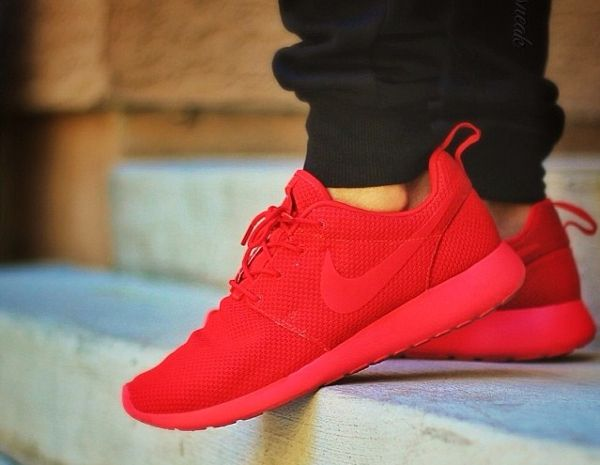 82a16220ba Nike Roshe Run ID Red October - Kickdasneak